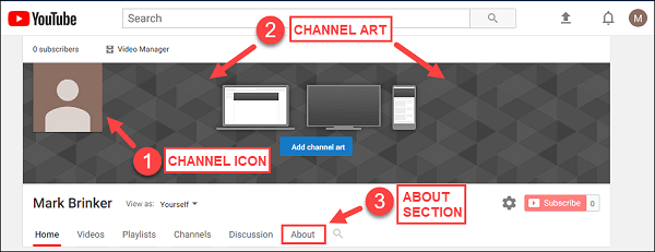 youtube edit channel art not working