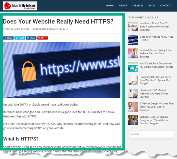 Website Content Example